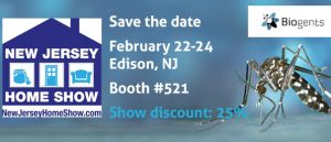 Biogents will exhibit its mosquito traps at the New Jersey Home Show in Edison, NJ from February 22-24. Get the traps directly at the show with a 25% discount
