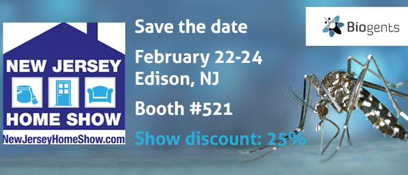 Biogents will exhibit its mosquito traps at the New Jersey Home Show inEdison, NJ from February 22-24. Get the traps directly at the show with a 25% discount
