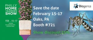 Biogents will exhibit its mosquito traps at the Philly Home and Garden Show in Oaks, PA from February 15-17. Get the traps directly at the show with a 25% discount