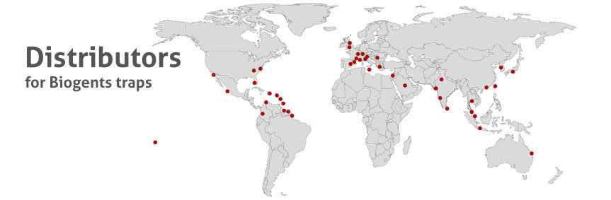 Biogents traps are distributed by partners worldwide.