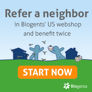Refer a neighbor in Biogents US webshop an benefit twice: Expand your zone of mosquito control and earn BG-Bucks.