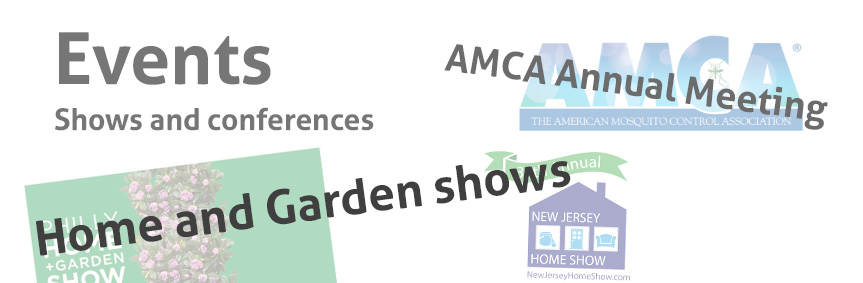 Events where Biogents takes part in the USA: garden shows, AMCA etc...